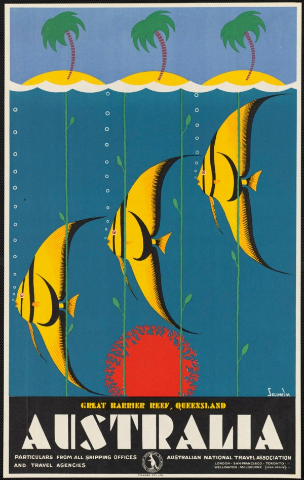 Vintage Travel Poster Great Barrier Reef