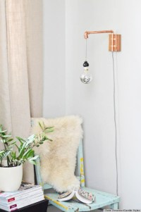 A DIY Wall Sconce Made From Copper Pipes Is The Perfect ...