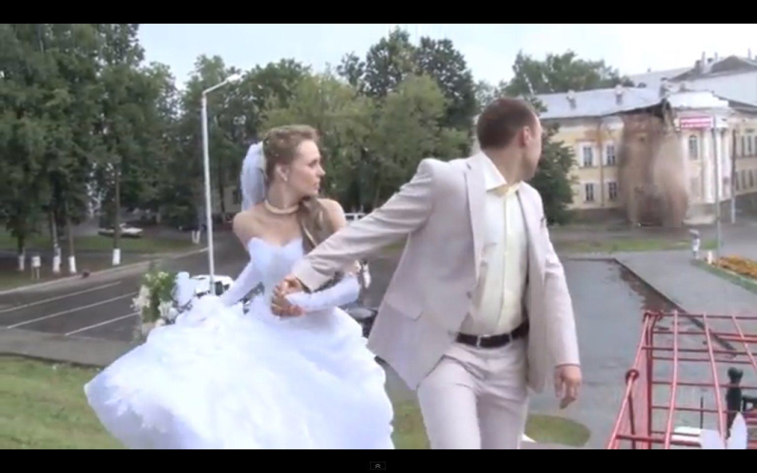 House Collapse Interrupts Russian Wedding VIDEO