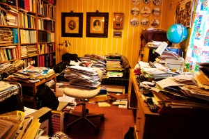 messy desk tidy study office cluttered clean space clutter stuff organize spaces papers area scientific