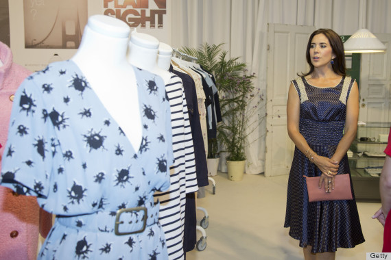 Princess Mary Sniffs Beauty Products Checks Out Clothes At Fashion Fair PHOTOS HuffPost