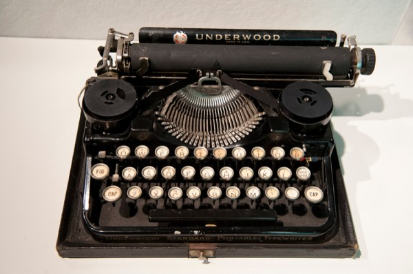Famous Writers' Typewriters Exhibit Northeastern