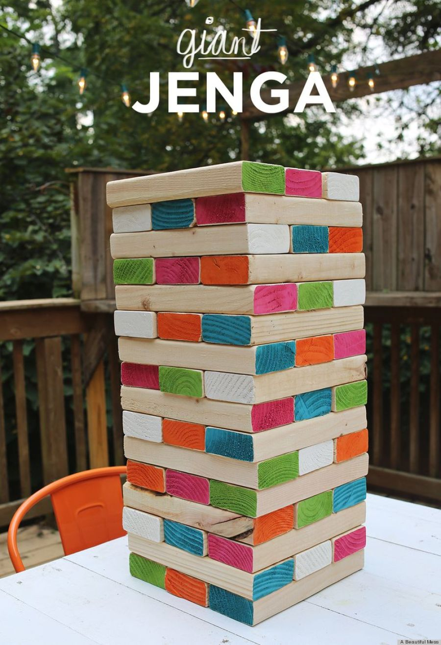 Diy Giant Jenga Is The Coolest Backyard Game Ever (photo