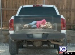 texas truck decal woman