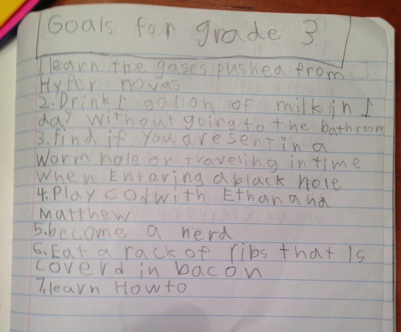 Cute Kid Note Of The Day Goals For Grade 3 HuffPost