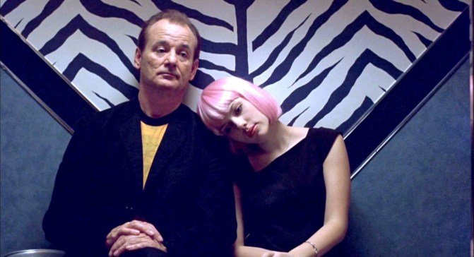 Bill Murray and Scarlett Johansson strike up an unlikely romance which is never consummated in Lost In Translation. Credit: www.huffingtonpost.com