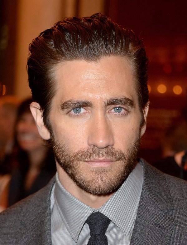 Jake Gyllenhaal Slicked Back Hair