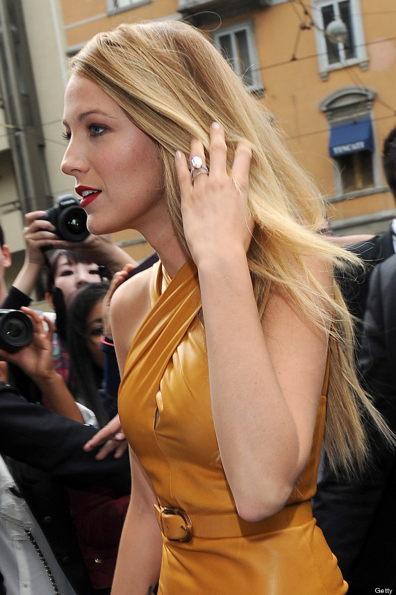 Blake Lively Looks Gorgeous In Leather At Guccis Milan