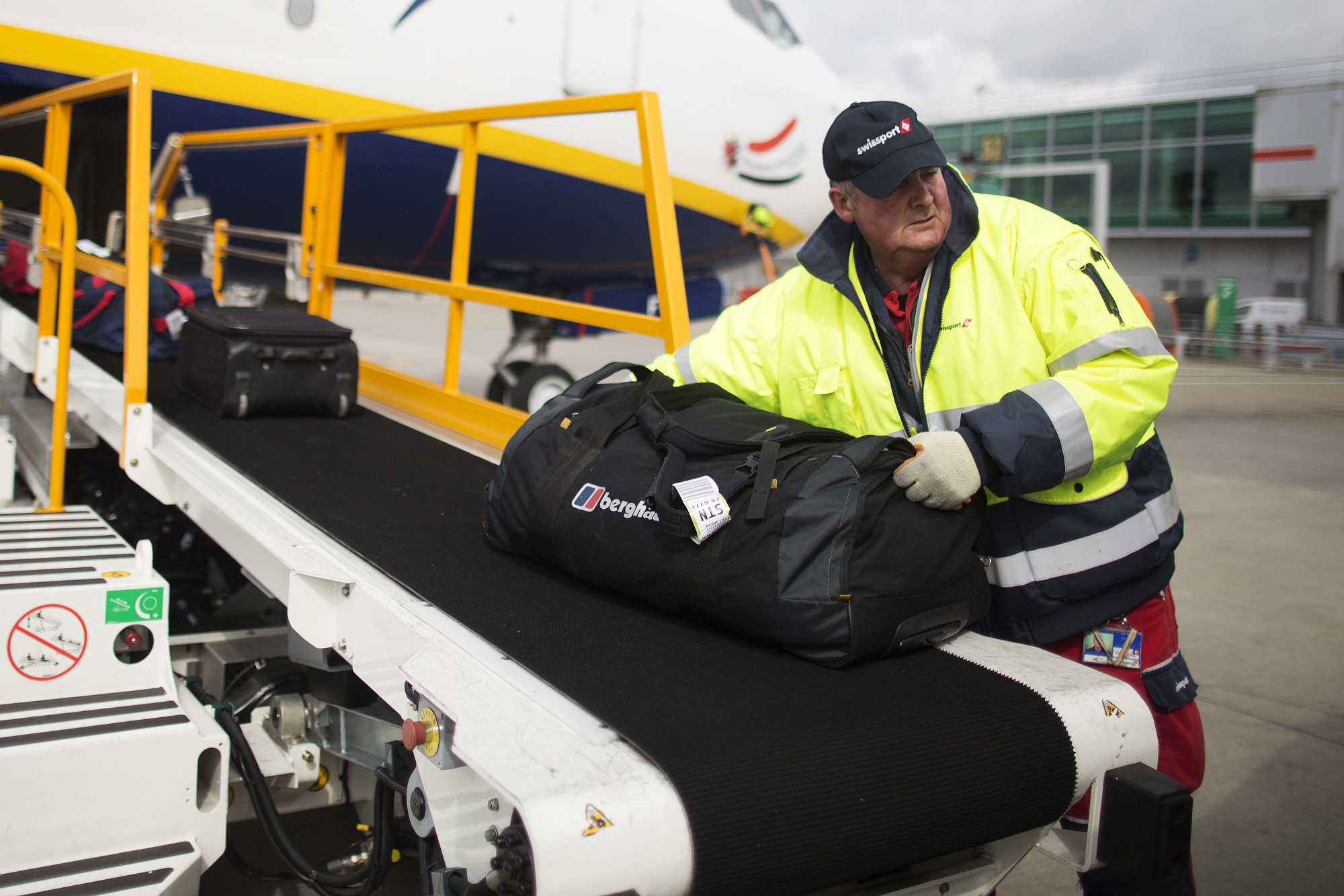 Image result for baggage handlers airport