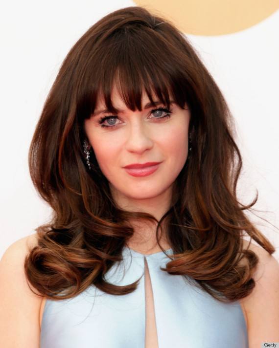 zooey deschanel emmy dress 2013