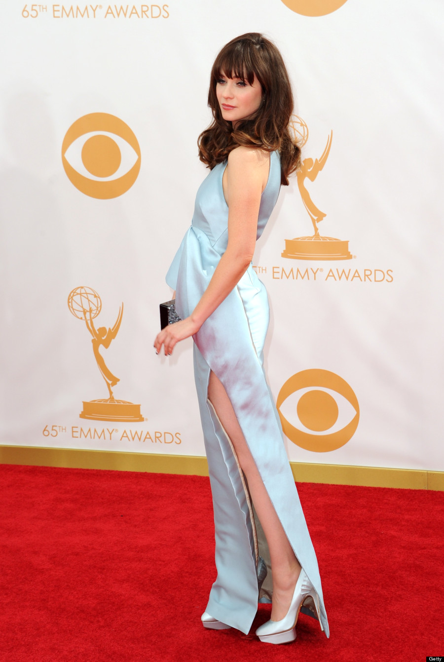 Zooey Deschanel Emmys Dress 2013