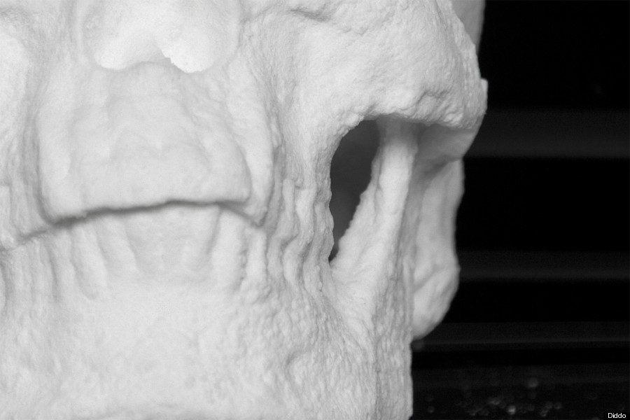 Artist Creates A LifeSize Human Skull Made Entirely Of