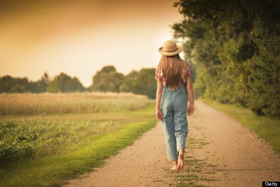 woman country walk