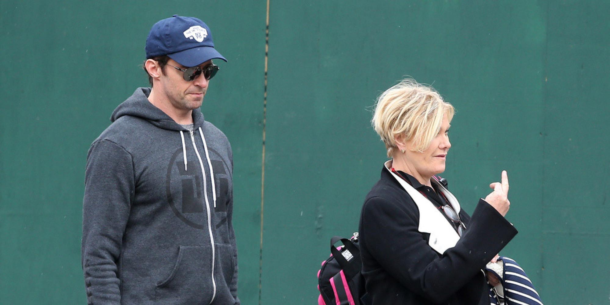 Hugh Jackmans Wife Deborra Lee Furness Flips The Bird