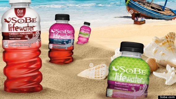 sobe bottles sand