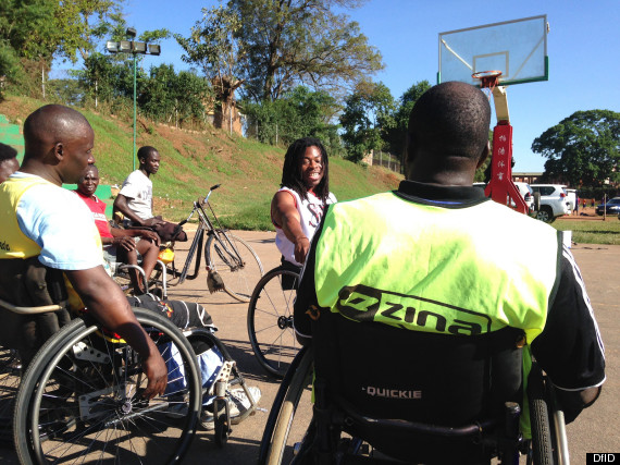 Lynne Featherstone in Uganda