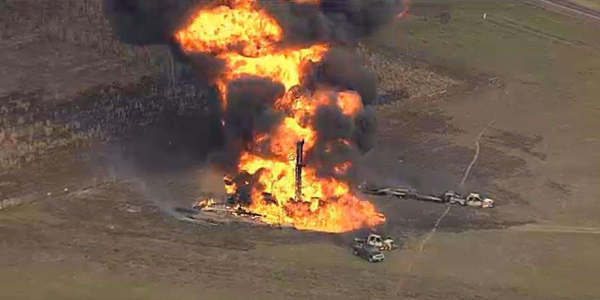 Texas Gas Pipeline Fire Near Milford Sends Flames Shooting