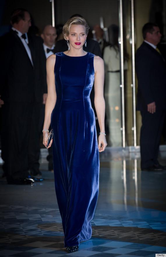 Princess Charlene Proves Velvet Dresses Are Totally Acceptable For Holiday Season PHOTOS