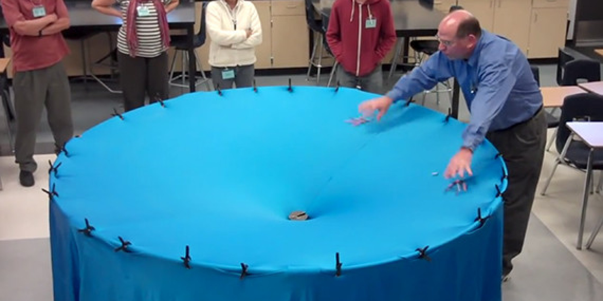 Awesome Physics Teacher Dan Burns Explains Gravity In A