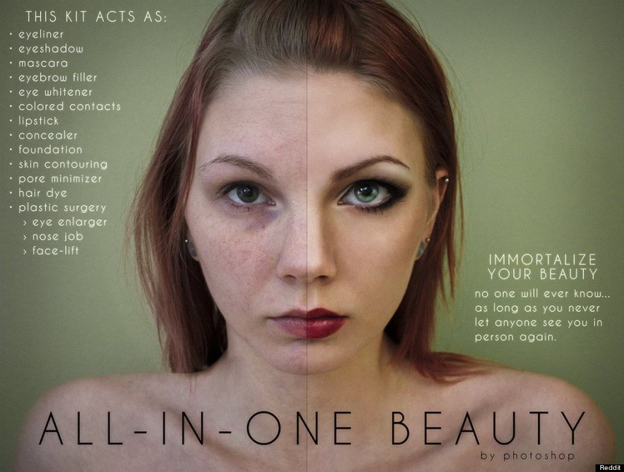 Photoshop Parody Beauty Ads Reveal Just How Much Photos
