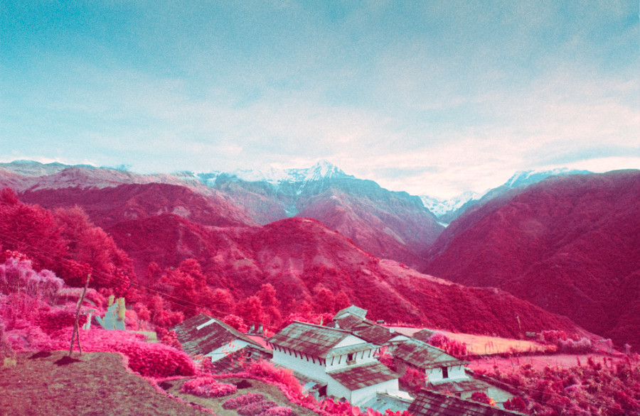Cute Pink Nation Wallpaper Infrared Photos Transform Nepalese Landscape Into