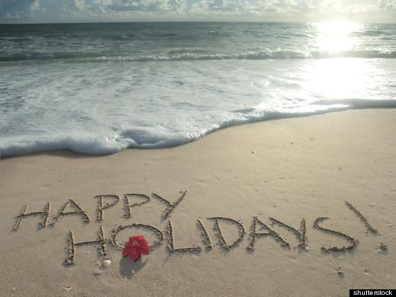 enjoying holidays