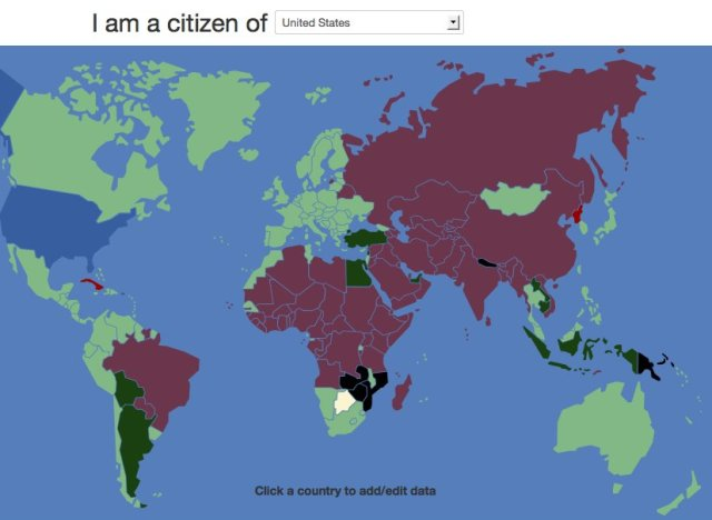 VisaMapper Is A Magical Map Where You Can See Which Countries ...