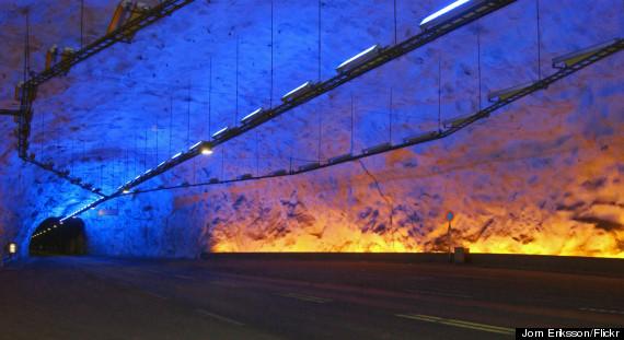 lærdal road tunnel