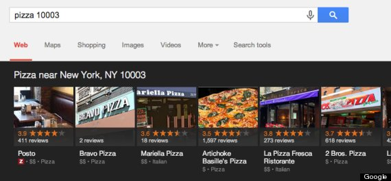 pizza google