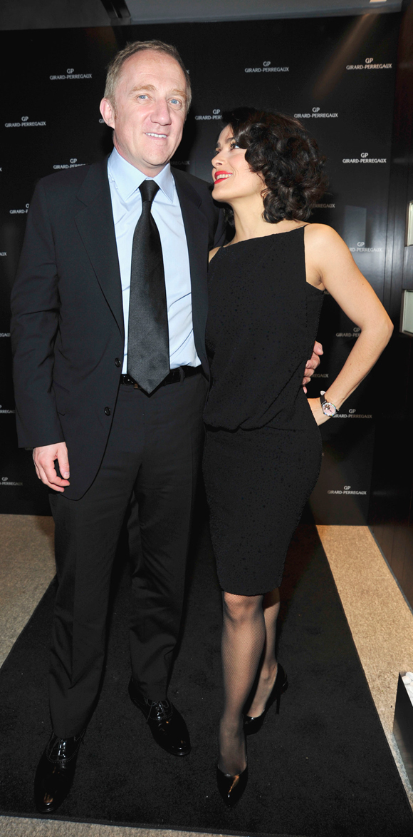 FrancoisHenri Pinault  Salma Hayek Step Out PHOTO  HuffPost