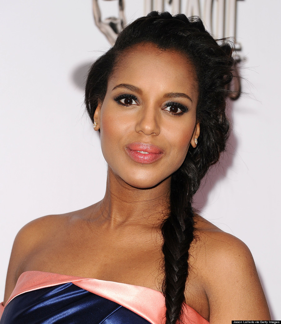 Kerry Washington Shows Baby Bump 2014 Naacp