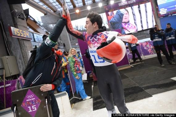 olympics high five