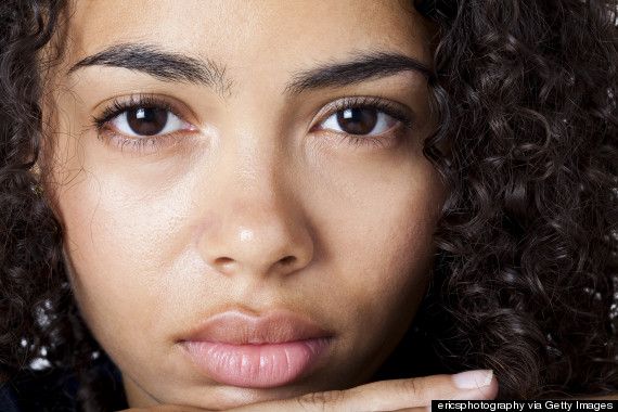 depressed black woman