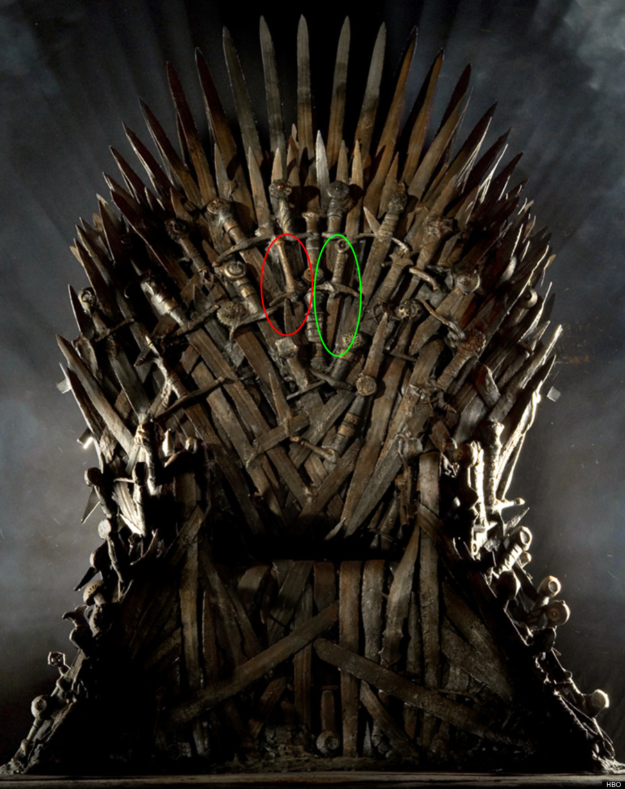 iron throne chair white butterfly gandalf s sword has been spotted in the game of thrones