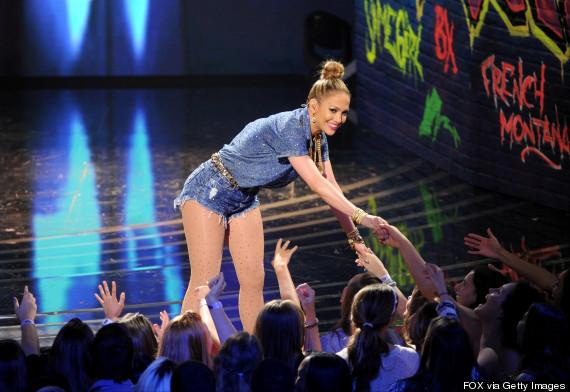 Jennifer Lopez Wears Denim Cutoff Shorts On American Idol Stage  HuffPost