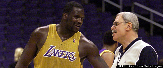 phil jackson shaquille oneal