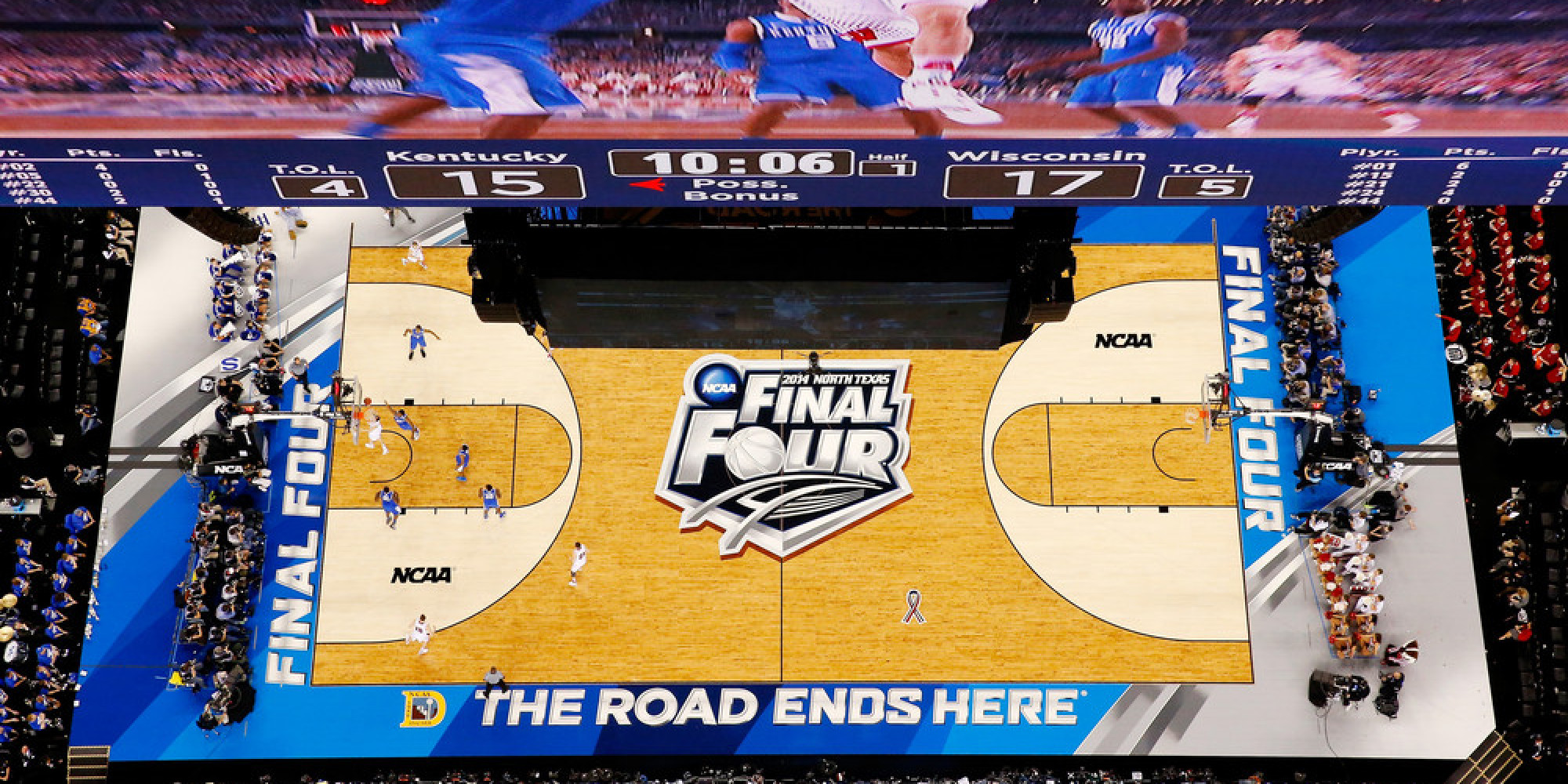 The Texas Sized Video Screens At The Final Four Are Bigger