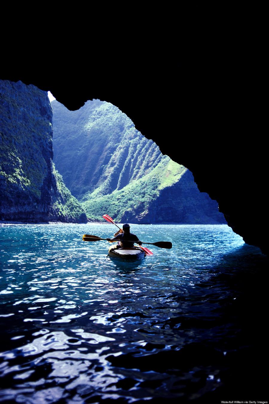 Sea Cave Kauai Hawaii