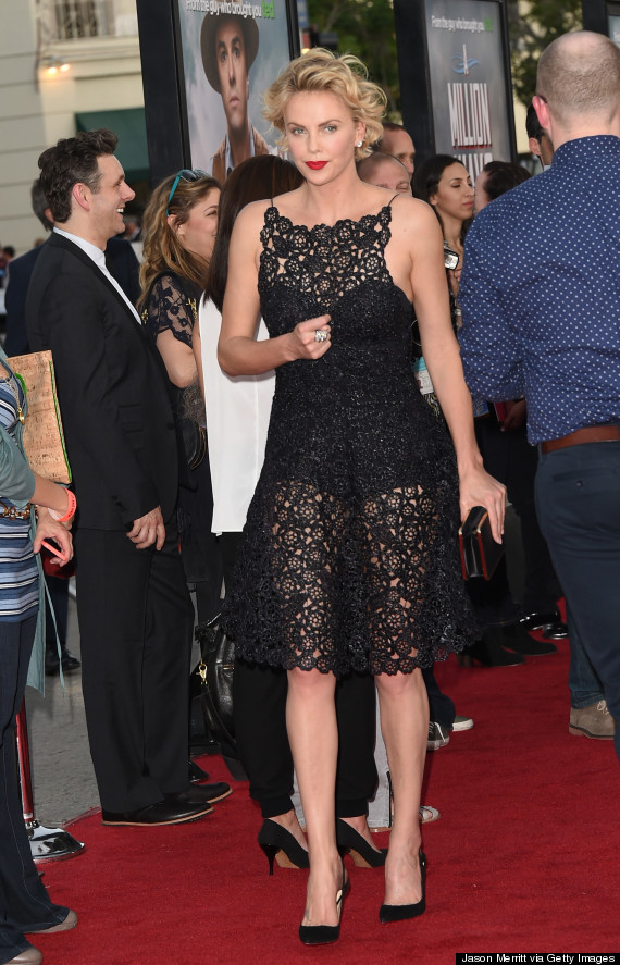 Charlize Theron Slays The Red Carpet In See-Through Black ...