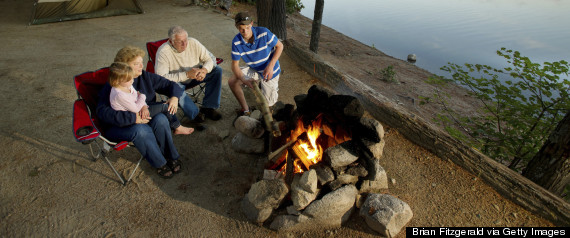 grandpa camping