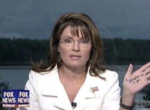 Sarah Palin Hand Notes