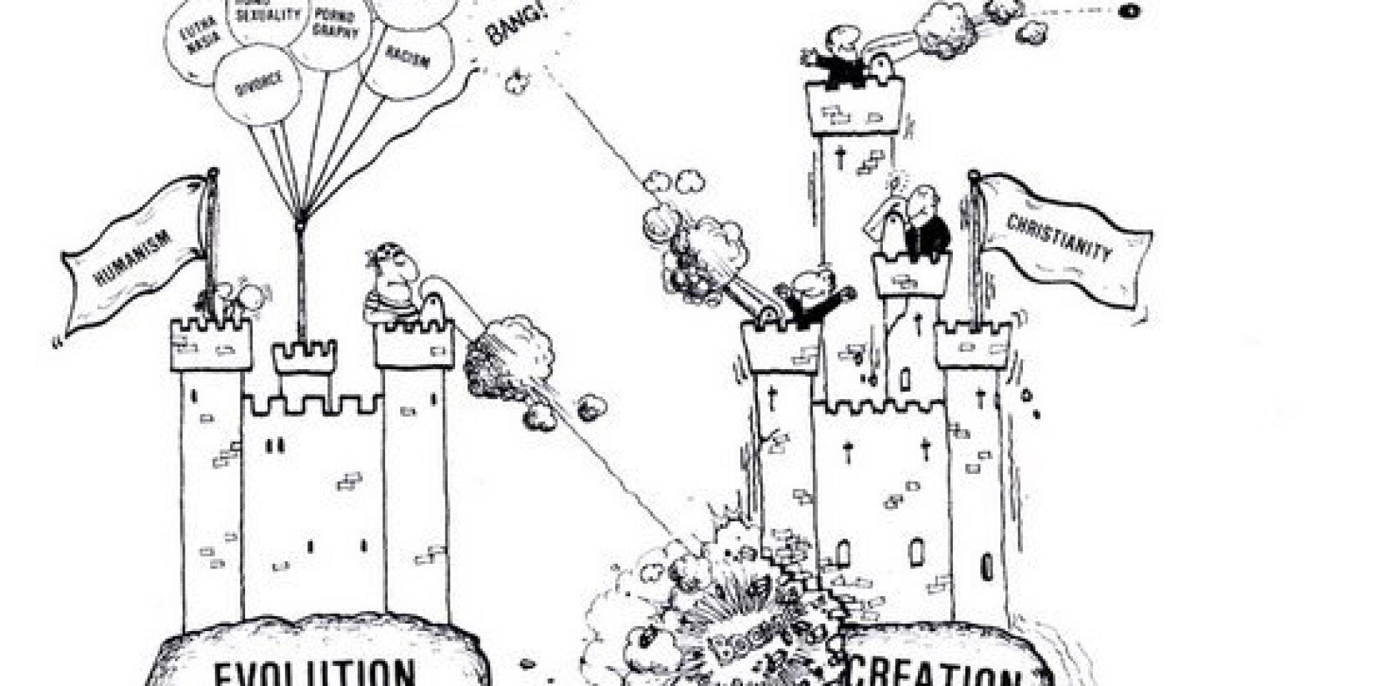Creationist Cartoon Shown In Georgia Biology Class Equates