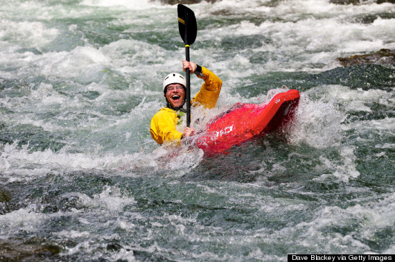 happy kayakers