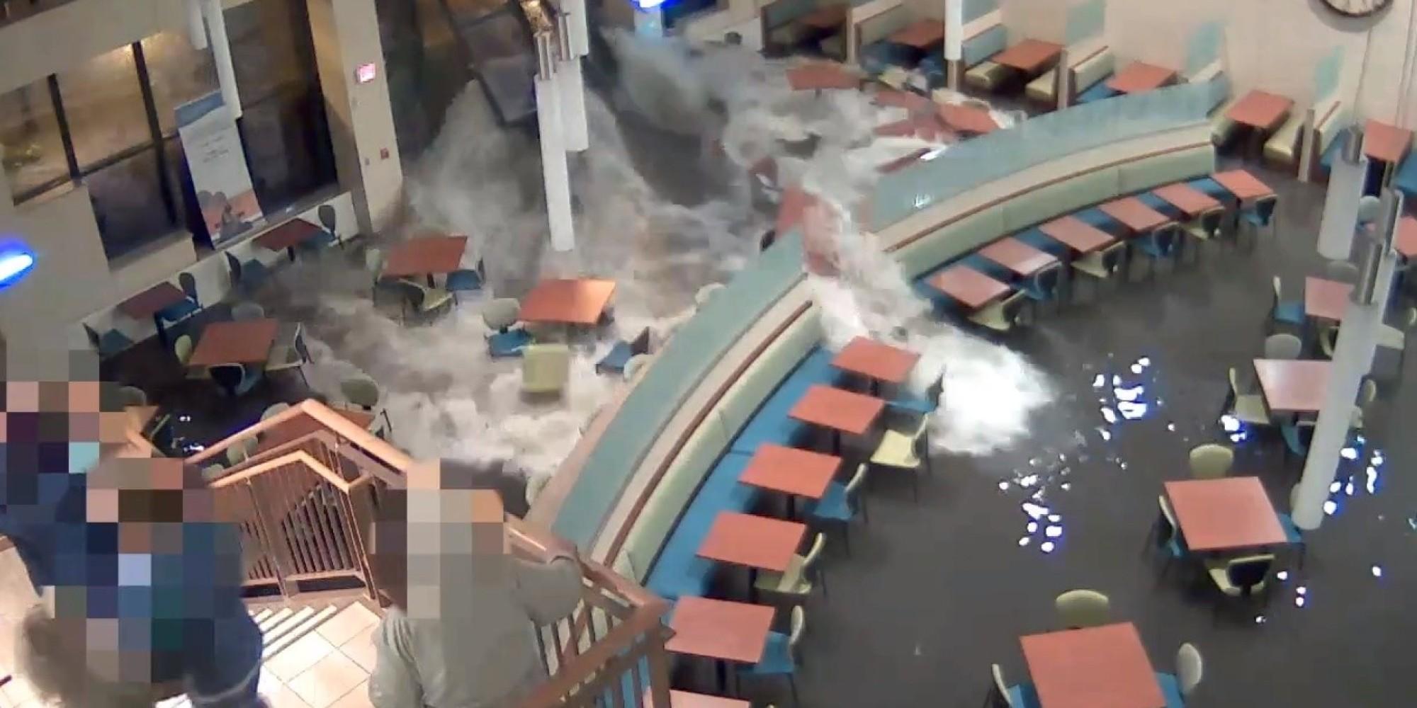 Flash Flood Rips Through Nebraska Hospital Caught On