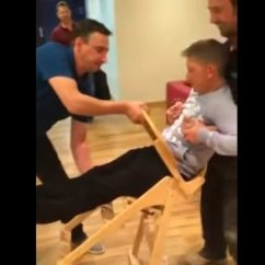 Restaurant Style High Chair Home Depot Mat Grown Man Gets Stuck In Baby's At | Huffpost Uk