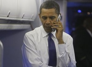 Obama Bush Phone Call