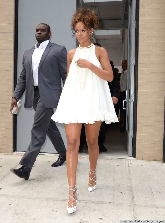 Rihanna Is All Legs In A Babydoll Dress At New York