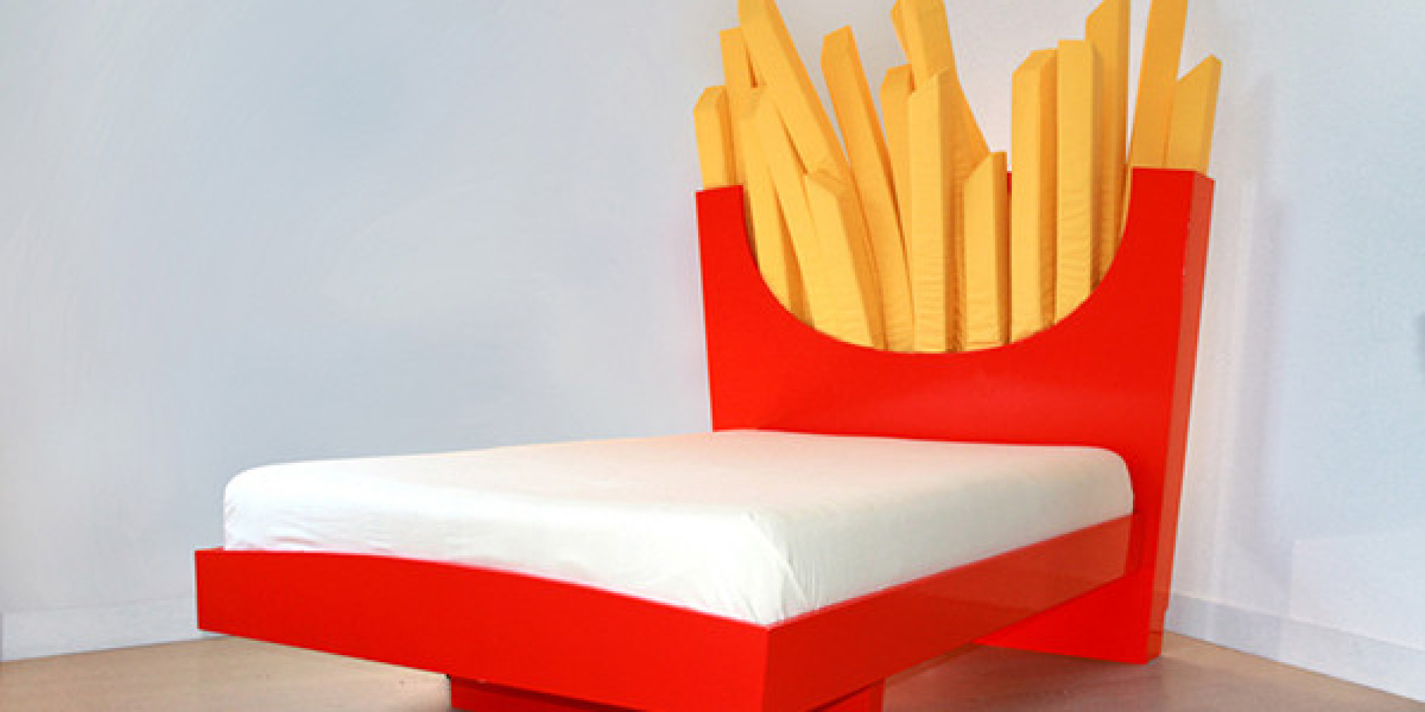 Supersized Bed Promises Dreams Of Fries Dancing Through