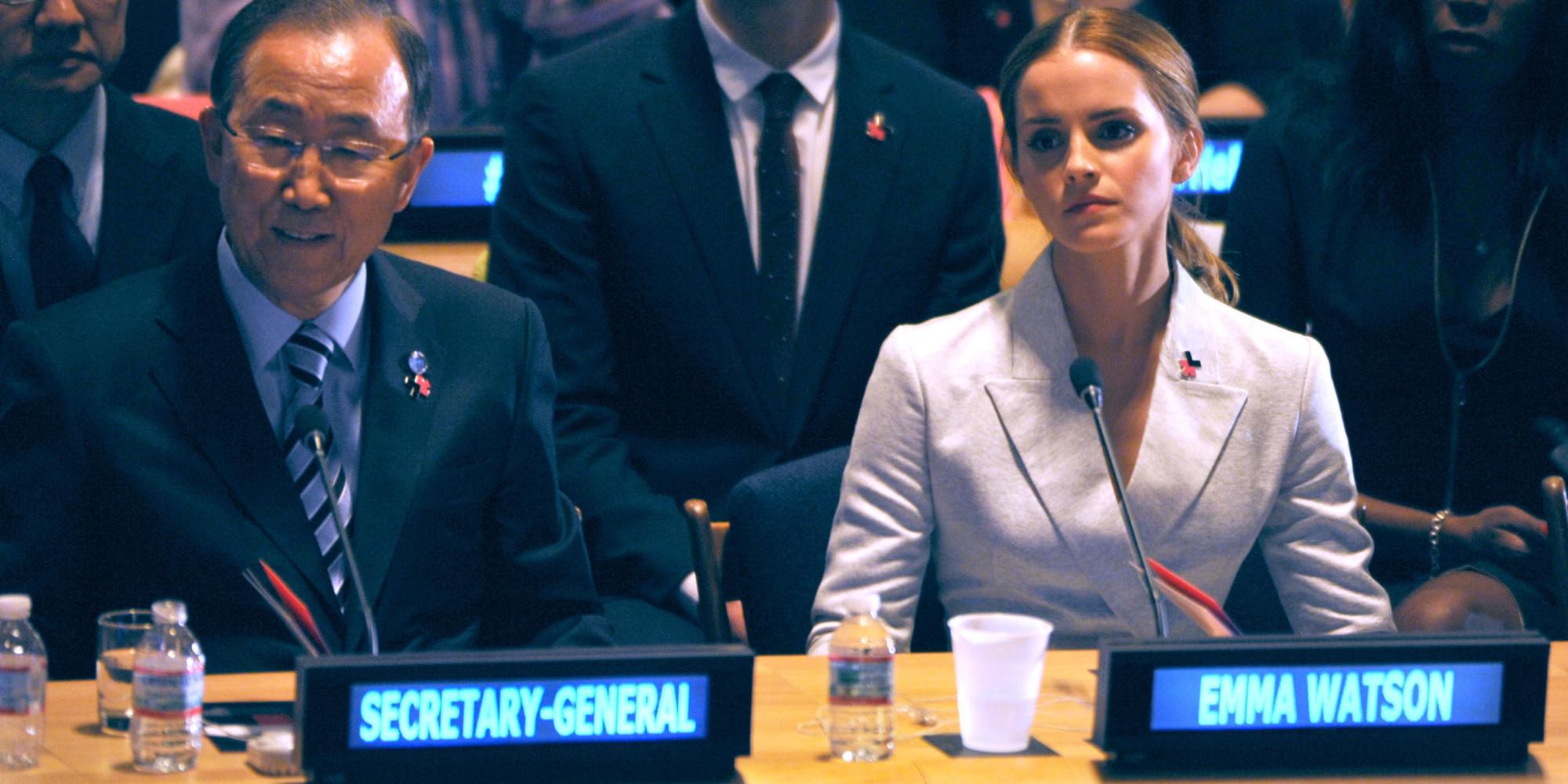 Emma Watson and Ban Ki-Moon