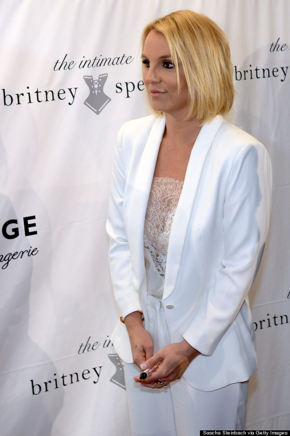 Britney Spears Debuts A Bob Haircut At Lingerie Launch